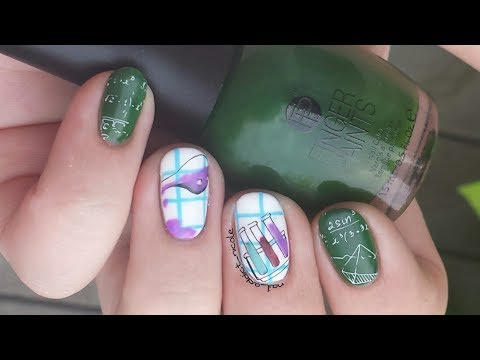 Math And Chemistry Nails Back To School Nail Art Turn Regular