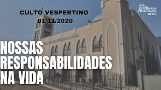 Culto Vespertino - 01/11/2020
