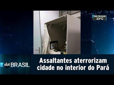 Assaltantes de banco aterrorizam cidade no interior do Pará | SBT Brasil (15/08/18)