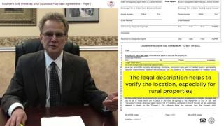 2017 Louisiana Residential Purchase Agreement - Page 1