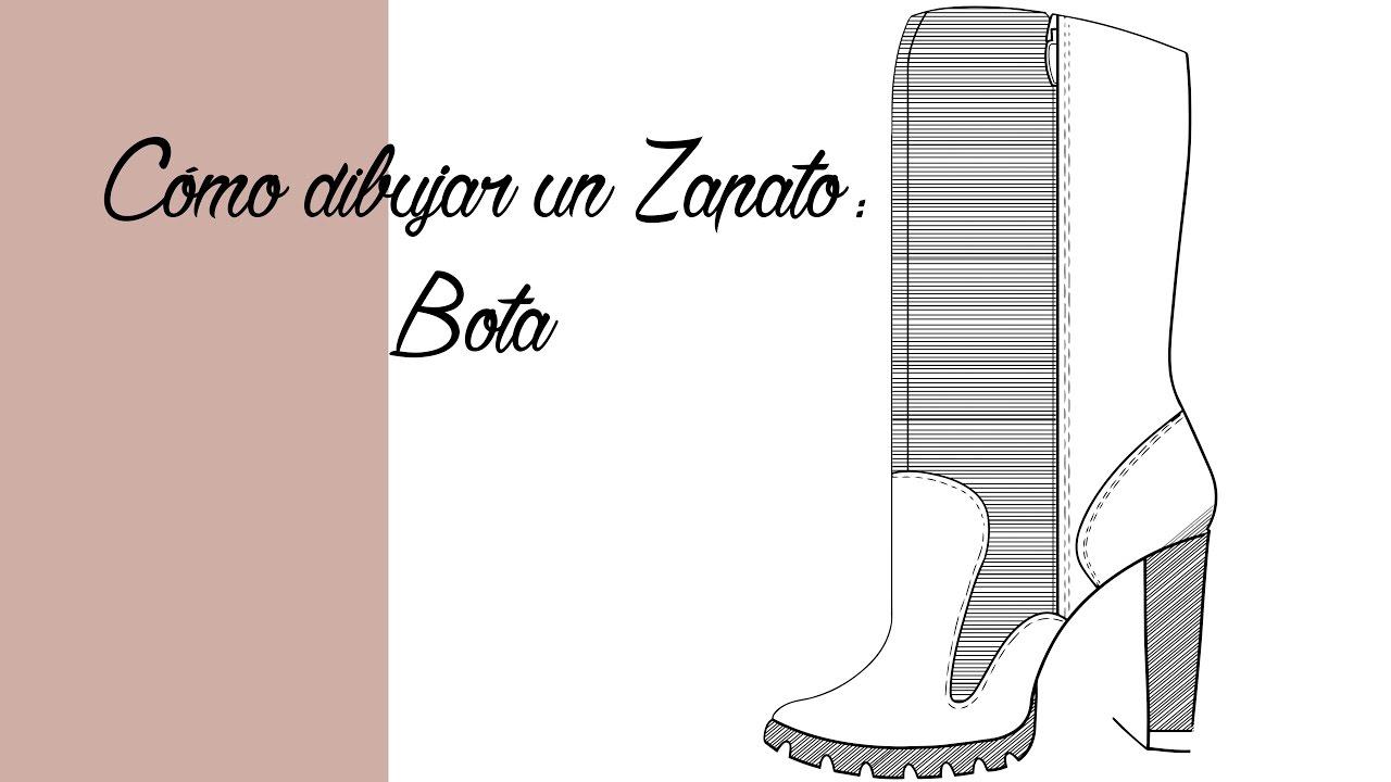 Cómo dibujar una Bota Tutorial | Español - YouTube