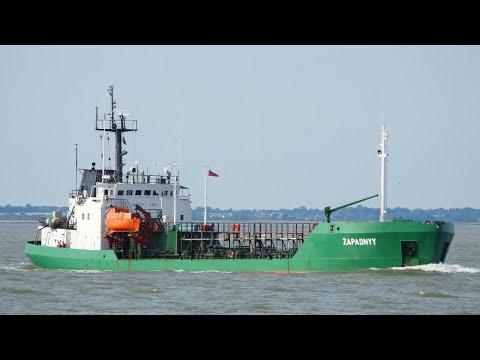 molasses tanker ZAPADNYY arriving at port of felixstowe 14/8/17