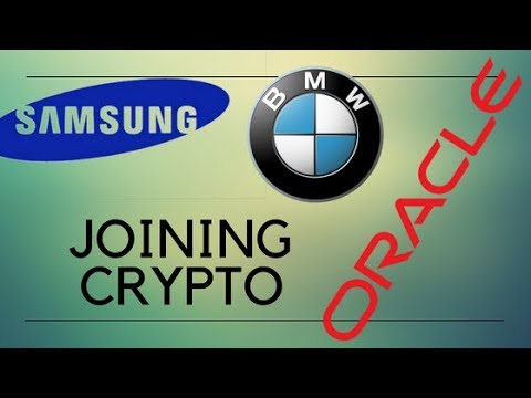 Daily Crypto news BMW, Oracle and Samsung blockchain products already developed