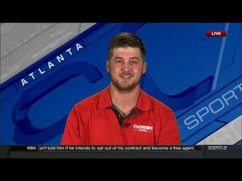 Clemson Baseball // Clate Schmidt's ESPN2 Interview - 6/26/15