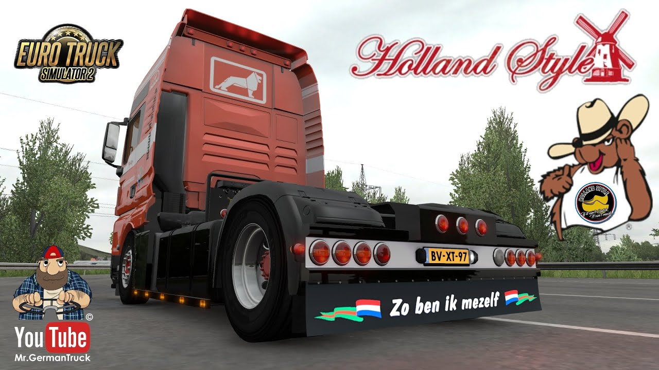 [ETS2 v1.37] MAN TGX & Ownable Krone Trailer *Holland Style*