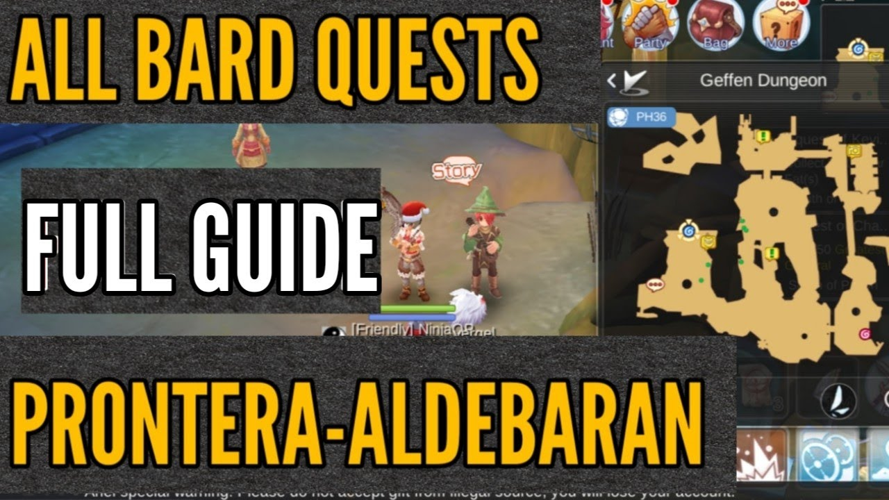 BARD QUESTS FULL GUIDE + LOCATION AND WHAT YOU WILL UNLOCK in RAGNAROK M  ETERNAL LOVE SEA