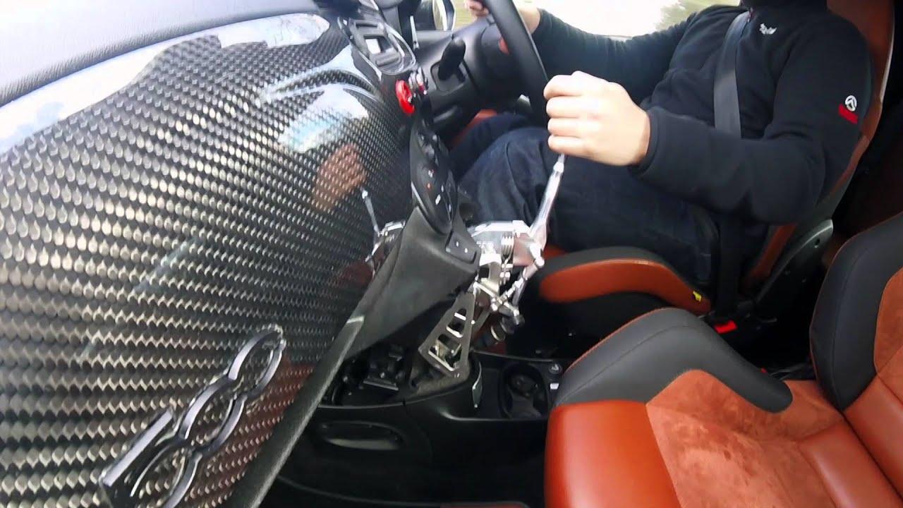 2016 Fiat 500 Abarth >> CAE Racing Shifter in my Abarth 595 Competizione - YouTube