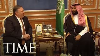 Secretary Of State Mike Pompeo Arrives In Saudi Arabia To Discuss Writer