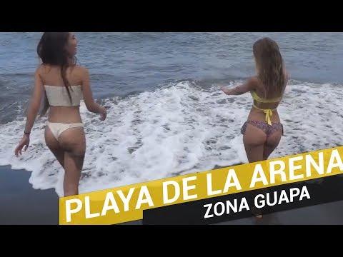 Playa de la arena en Tenerife   Zona Guapa 😀