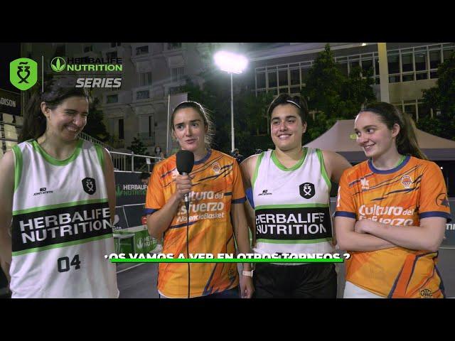 Entrevista a las subcampeonas del Madrid Open Herblife 3x3 Series 2021