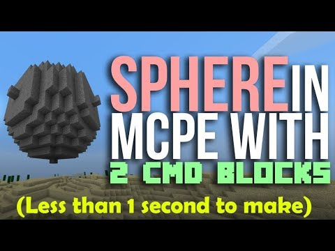 How to make SPHERES in Minecraft with command blocks in Minecraft PE