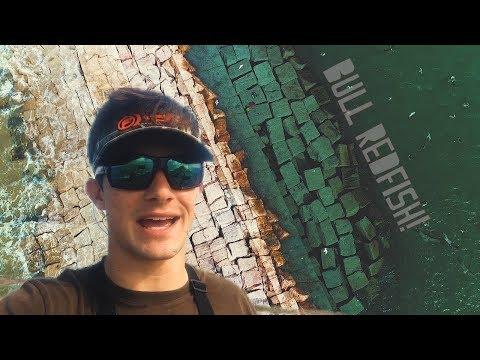 Fishing For Jetty GIANTS // BULL REDFISH