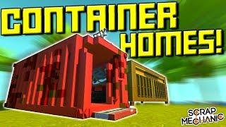 Makeshift Island Homes and Shacks! [FW 8] - Scrap Mechanic Gameplay