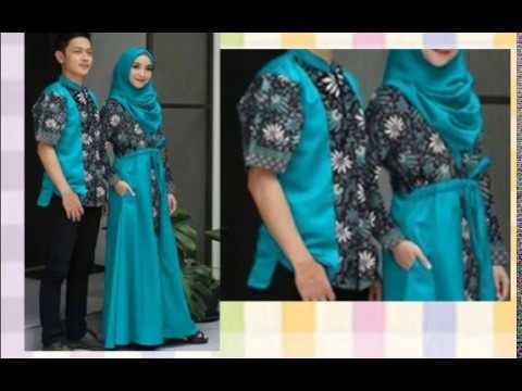 Model Baju Gamis Batik Terbaru Sarimbit Couple 2018