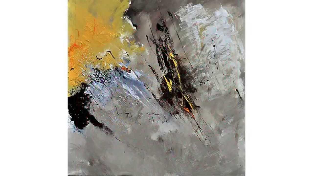 Peintures abstraites sur toile youtube for Peinture sur toile