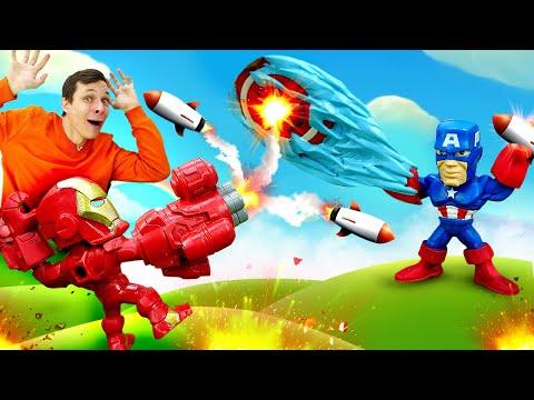 Супергерои и Трансформеры - Железный Человек против Десептиконов! - Онлайн игры для мальчиков.