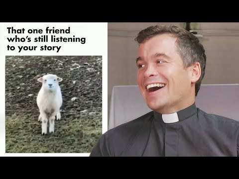 British Priest Reacts to the Most Wholesome Memes!