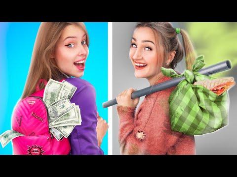 Бедная семья VS Богатая семья / Смешные ситуации!