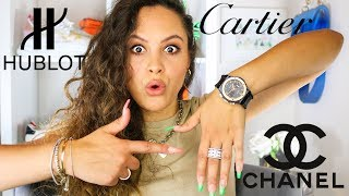 MY $30,000 LUXURY JEWELRY COLLECTION 2019 | CARTIER, HUBLOT, CHANEL
