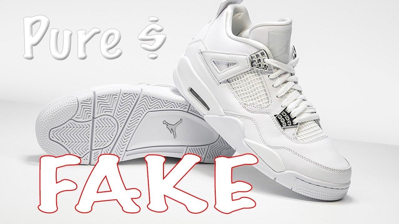 FAKE Air Jordan Retro 4 Pure Money Review FUGAZI - YouTube 0e04c5bec
