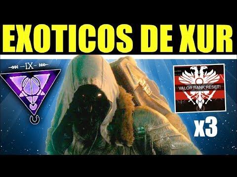Destiny 2: Localización de Xur! Exóticos! Triple Valor! Ventajas & Recomendaciones! | 18 de Enero thumbnail