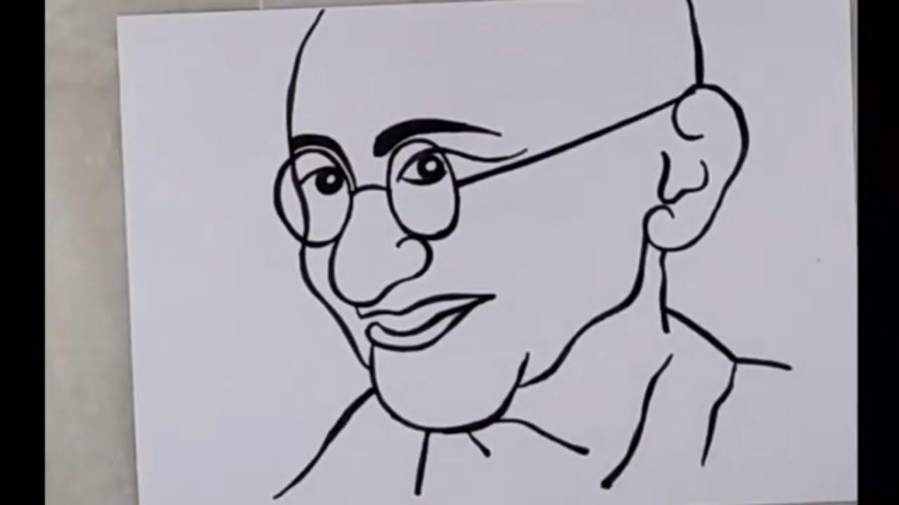 Drawing Of Mahatma Gandhi