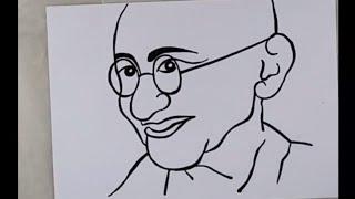 Drawing of Mahatma Gandhi | Drawing of Gandhi jayanti | artistica