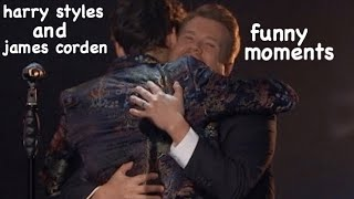 james corden and harry styles funny moments