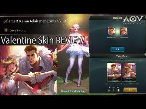 Review Skin Valentine Arthur & Tel'Annas [COUPLE SKIN] - Arena Of Valor