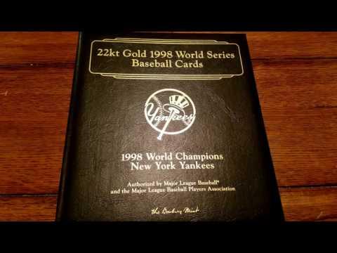 22KT GOLD 1998 N.Y. YANKEES TEAM SET!!!