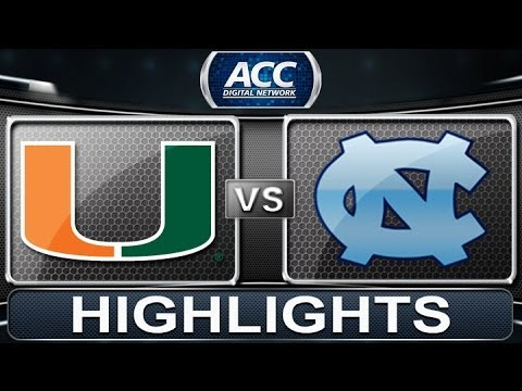2013 ACC Football Highlights | Miami Vs North Carolina | ACCDigitalNetwork