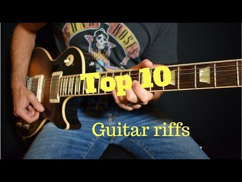 Top 10 Guitar Riffs