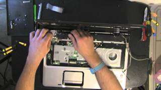 HP DV9000 take apart, disassemble, how to open disassembly