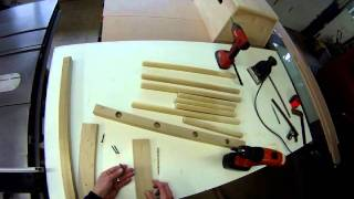Folding Solid Wood Boot Drying Rack Build Video