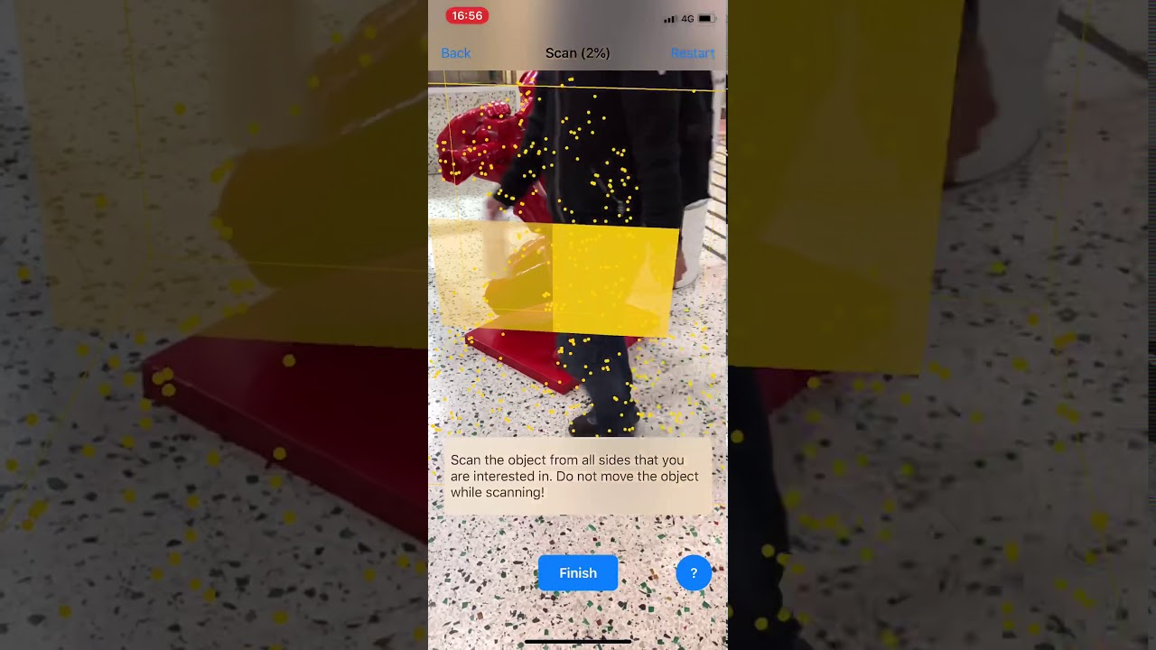 ARKIT / Apple Scanner Point Cloud