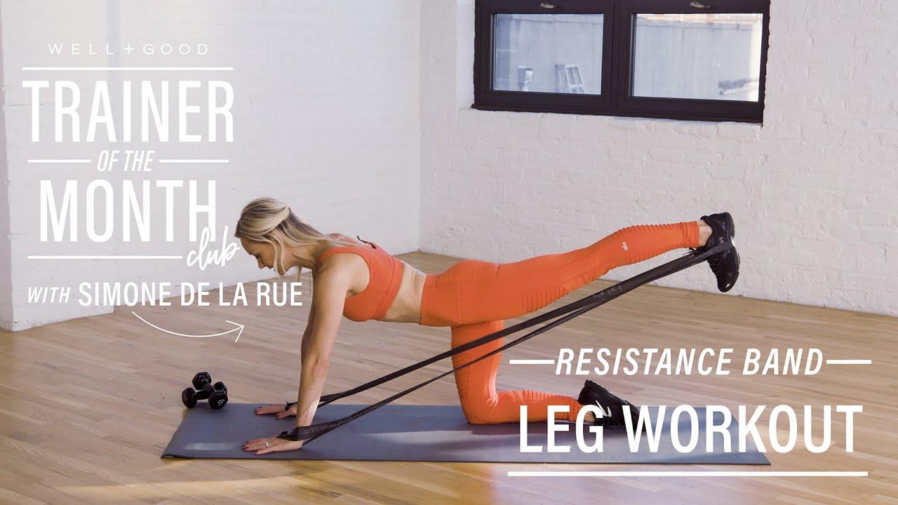 Resistance Band Leg Workout With Simone De La Rue Trainer Of The
