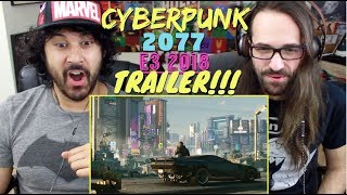 CyberPunk 2077 - Official E3 2018 TRAILER REACTION & REVIEW!!!