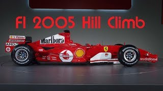 rFactor - HILL CLIMB in a 2005 F1 CAR