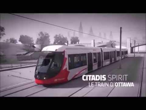 Le nouveau train léger sur rail d'Ottawa