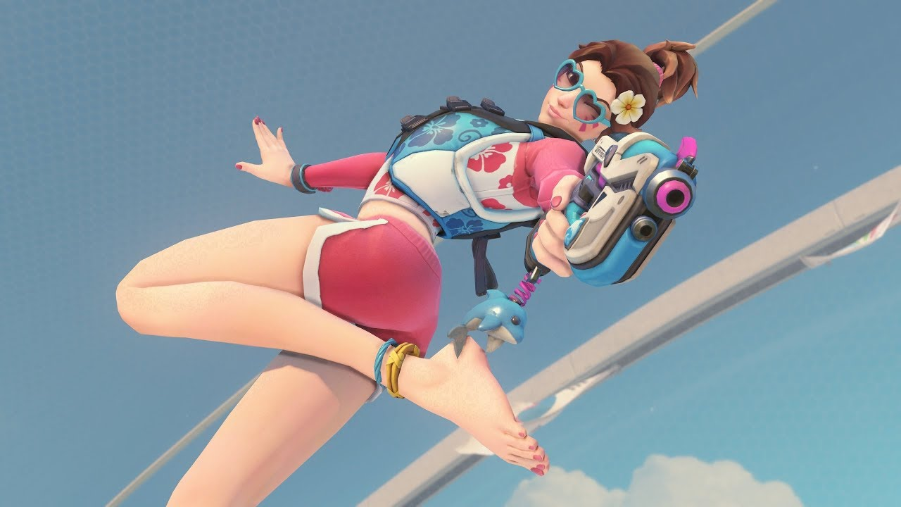 Waveracer Dva Skin 「 Overwatch Summer Games 2018 Costume