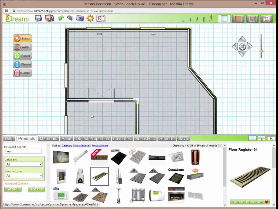 3dream Online 3d Room Planner For Interior Design Space Planning 3dream Net
