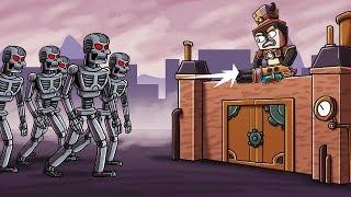 Minecraft - ROBOT BASE CHALLENGE: Robo Apocalypse! (Base vs Robots)