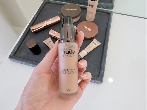 First Impression | Nude by Nature Liquid Mineral Foundation | Green Beauty