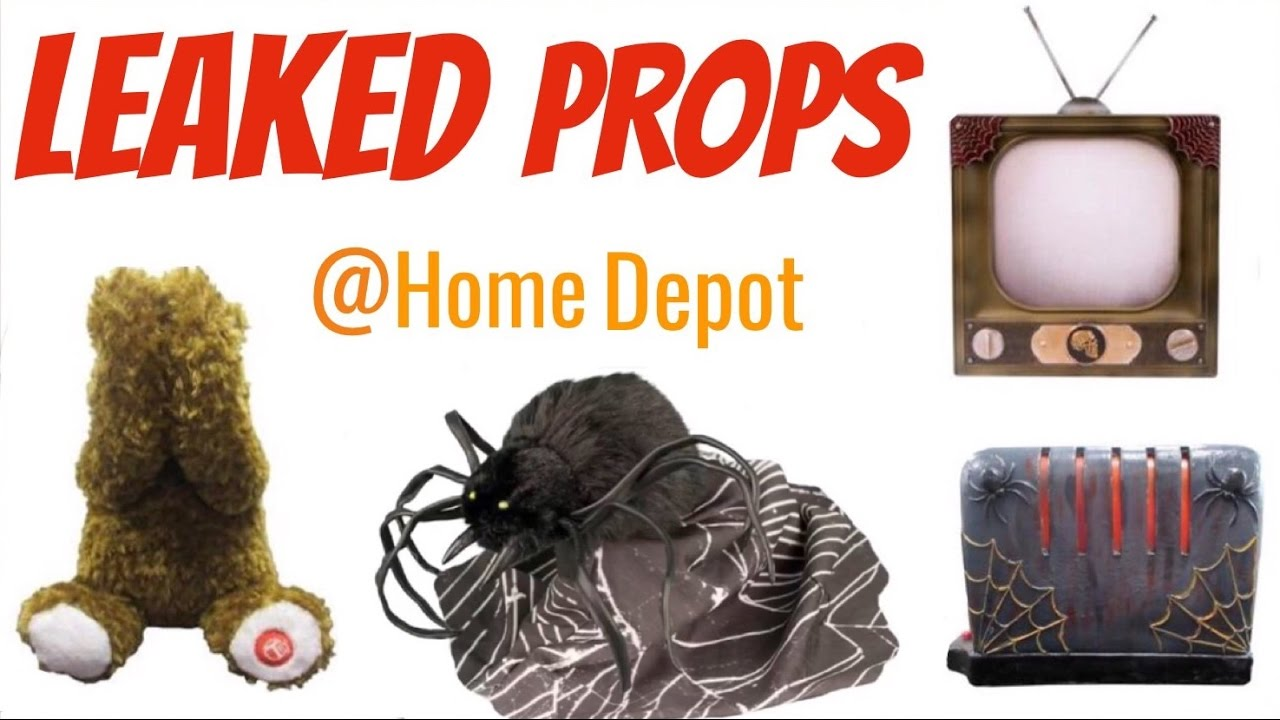Home Depot Flexible Props : Leaked home depot halloween props spoilers youtube
