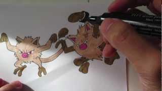 How to draw Pokemon: No.56 Mankey, No.57 Primeape