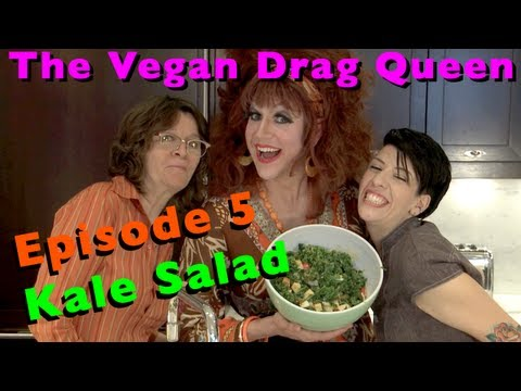 Kale Salad - The Vegan Drag Queen - Honey LaBronx
