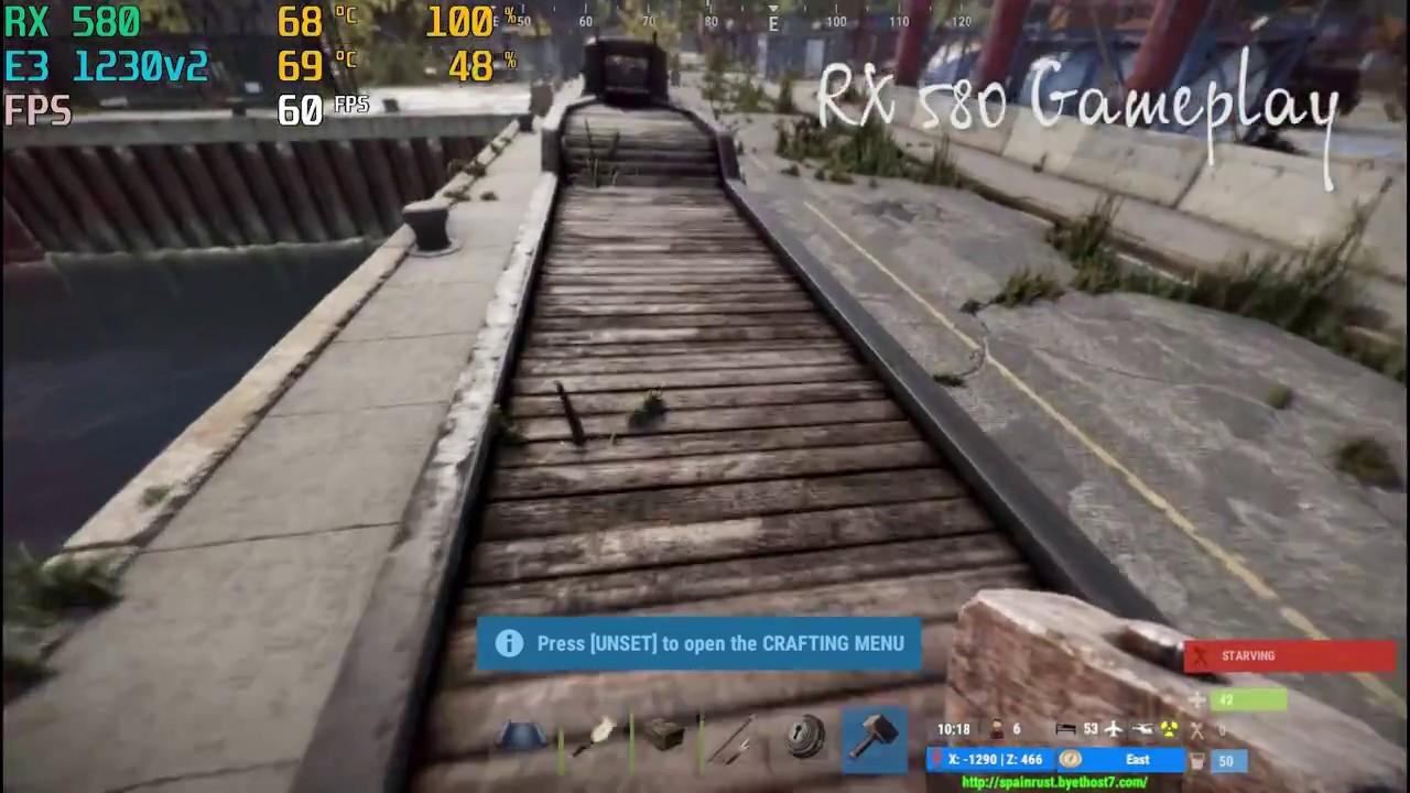 Rust - RX 580 - E3 1230v2 - Gameplay - YouTube