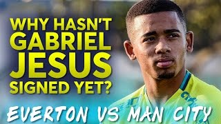 gabriel jesus is not a man city player   everton vs manchester city