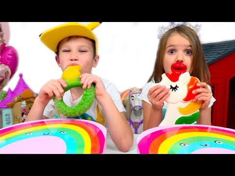 Желейная еда против настоящего ЧЕЛЛЕНДЖ / Gummy food vs Real challenge