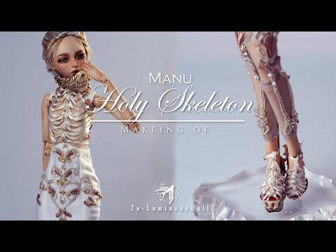 Zu-luminousdoll - OOAK porcelian art doll - The Third Holy Skeleton
